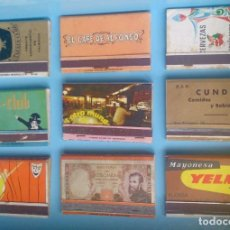 Cajas de Cerillas: LOTE 9 CAJAS DE CERILLAS VINTAGE MAYONESA YELMA . Lote 121236175