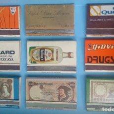 Cajas de Cerillas: LOTE 9 CAJAS DE CERILLAS VINTAGE GINEBRA ROLLINGS . Lote 121236691