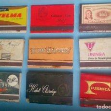 Cajas de Cerillas: LOTE 9 CAJAS DE CERILLAS VINTAGE UNINSA . Lote 121237111