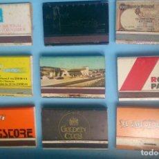 Cajas de Cerillas: LOTE 9 CAJAS DE CERILLAS VINTAGE SASTRERÍA ALVAREZ. Lote 121238011