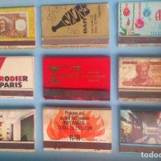 Cajas de Cerillas: LOTE 9 CAJAS DE CERILLAS VINTAGE FORMICA . Lote 121238367