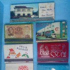Cajas de Cerillas: LOTE 8 CAJAS DE CERILLAS VINTAGE . Lote 121239003