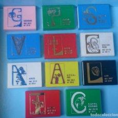 Cajas de Cerillas: LOTE 11 CAJAS DE CERILLAS DE PLÁSTICO VINTAGE SIGNOS ZODIACO ZODIACALES HORÓSCOPO . Lote 121239587
