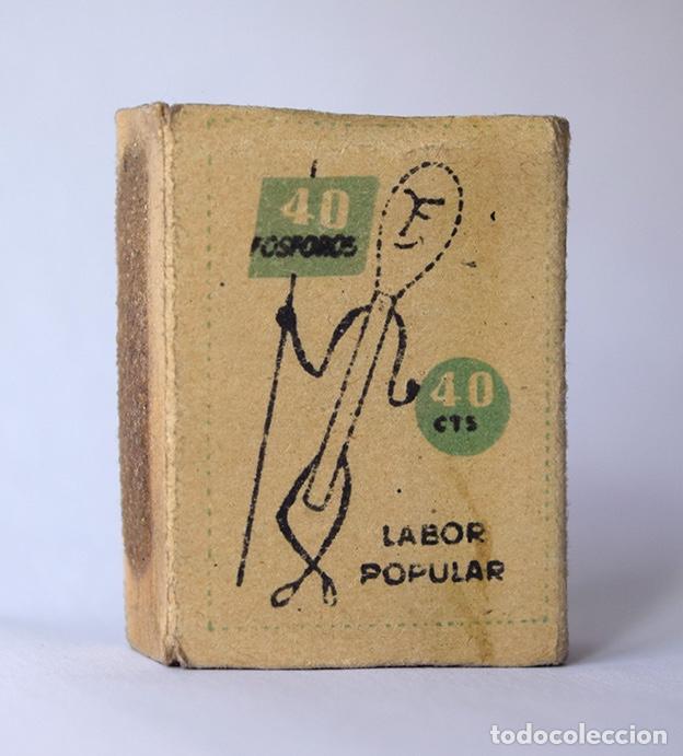 Cajas de Cerillas: Caja de cerillas Labor popular nº 23 Motorista (vacía) - Foto 2 - 121241659