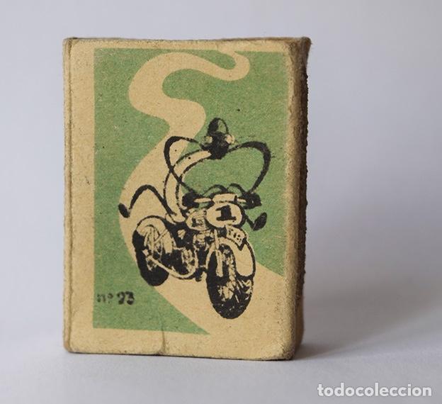 Cajas de Cerillas: Caja de cerillas Labor popular nº 23 Motorista (vacía) - Foto 4 - 121241659