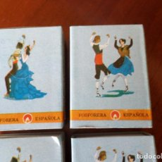 Cajas de Cerillas: CAJAS DE CERILLAS TRAJES REGIONALES. Lote 121687843