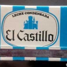 Cajas de Cerillas: CERILLAS LECHE CONDENSADA EL CASTILLO.. Lote 122183160