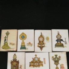 Cajas de Cerillas: LOTE 8 CAJAS DE CERILLAS RELOJES ANTIGUOS. Lote 121384556