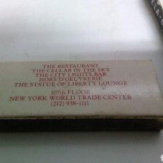 Cajas de Cerillas: CAJA CERILLAS WORLD TRADE CENTER_NUEVA YORK. Lote 123444315