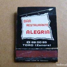 Matchboxes - Caja de cerillas Bar Restaurante Alegria - 123535663