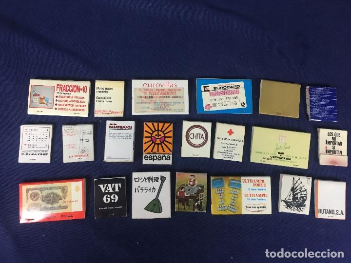 CONJUNTO 21 CAJAS CERILLAS MADRID VIAJES AÑOS 60 70 EUROVILLAS CARITAS BUTANO VER FOTOS (Coleccionismo - Objetos para Fumar - Cajas de Cerillas)