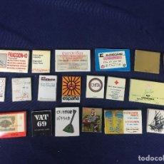 Cajas de Cerillas: CONJUNTO 21 CAJAS CERILLAS MADRID VIAJES AÑOS 60 70 EUROVILLAS CARITAS BUTANO VER FOTOS. Lote 193198948