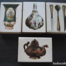 Cajas de Cerillas: 4 CAJAS DE CERILLAS CERAMICA ALEMANA. CAJAS VACIAS. Lote 126206035