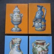 Cajas de Cerillas: 4 CAJAS DE CERILLAS CERAMICA FRANCESA. CAJAS VACIAS. Lote 126206287