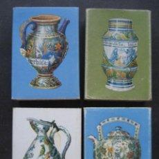 Cajas de Cerillas: 4 CAJAS DE CERILLAS CERAMICA FRANCESA. CAJAS VACIAS. Lote 126206315