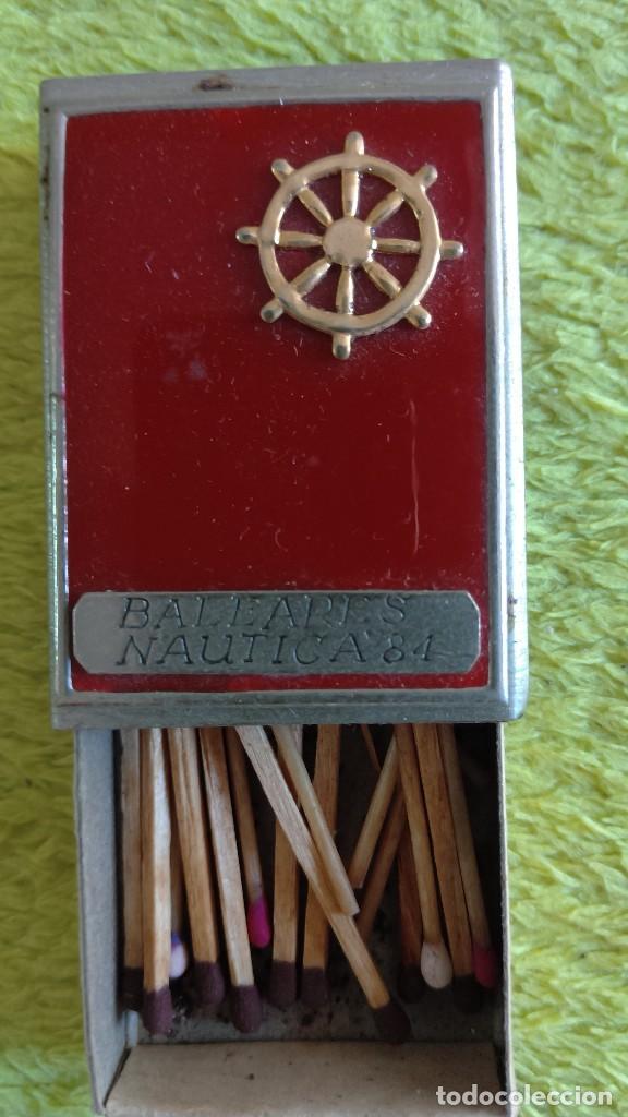 CAJA DE CERILLAS METÁLICA - BALEARES NÁUTICA 84 (ÚNICA EN TODOCOLECCIÓN)10 (Coleccionismo - Objetos para Fumar - Cajas de Cerillas)