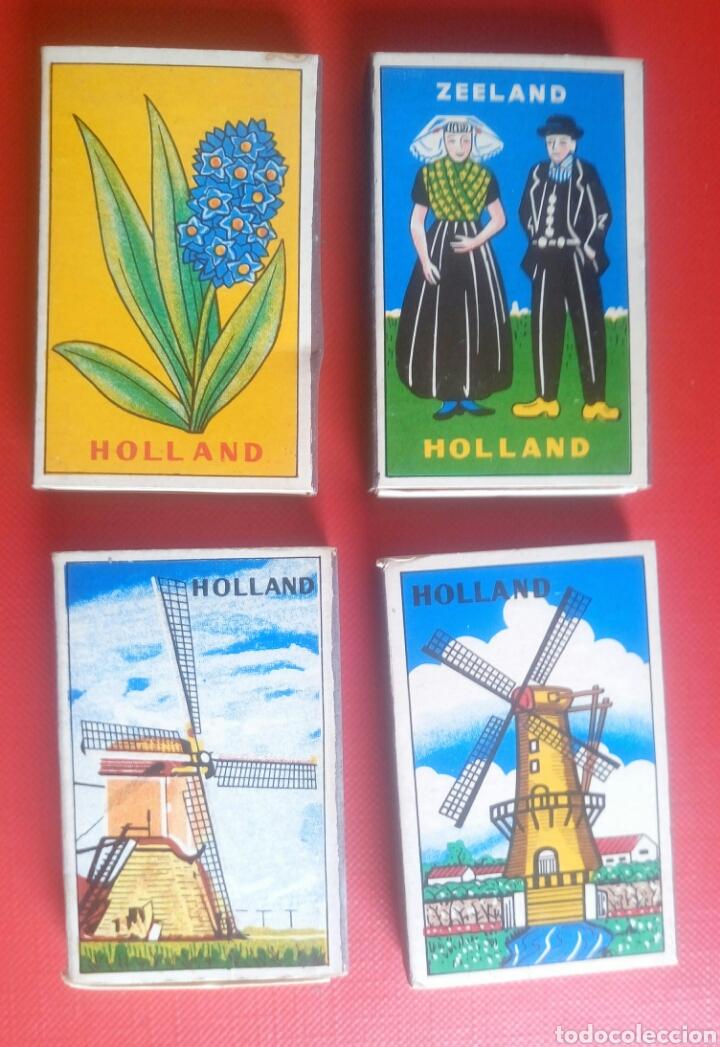 LOTE 4 CAJAS DE CERILLAS HOLANDA (Coleccionismo - Objetos para Fumar - Cajas de Cerillas)