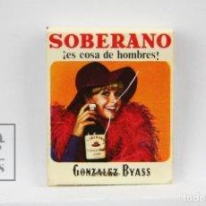 Cajas de Cerillas: CARTERITA DE CERILLAS PUBLICITARIA - COÑAC, BRANDI SOBERANO / SALON AVENIDA, TARRASA - LLENA. Lote 127354043