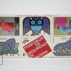 Cajas de Cerillas: CONJUNTO DE 12 CAJAS CERILLAS - HOROSCOPO CHINO / FOSFOROS DEL PIRINEO - PRECINTADO. Lote 127419371
