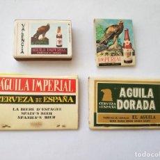 Cajas de Cerillas: LOTE 4 CAJAS DE CERILLAS CERVEZA EL AGUILA - AGUILA DORADA - AGUILA IMPERIAL. Lote 127630859