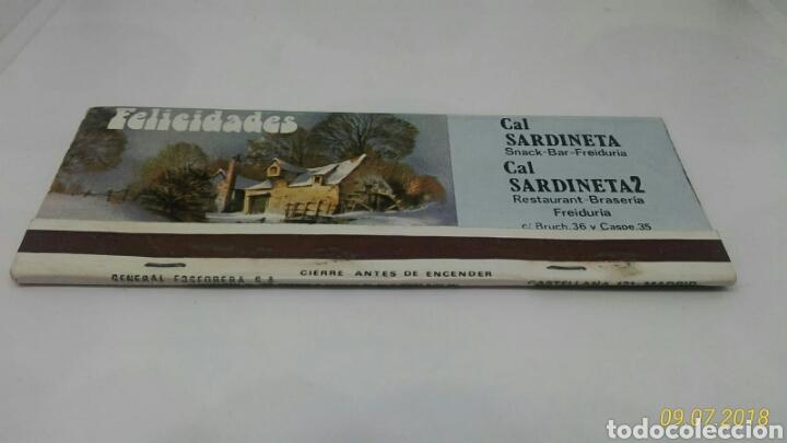 Cajas de Cerillas: CAJA CERILLAS CAL SARDINETA BARCELONA NUMERO LOTERIA NACIONAL 1983 - Foto 3 - 127645528