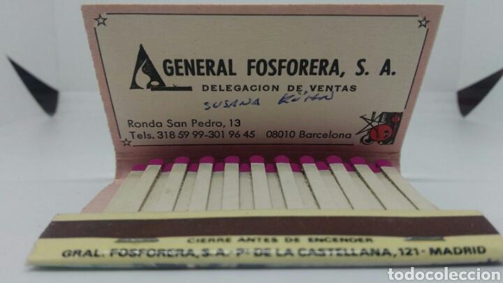 Cajas de Cerillas: CAJA DE CERILLAS GENERAL FOSFORERA POSTAL NAVIDAD CON CALENDARIO 1988 - Foto 2 - 127645759