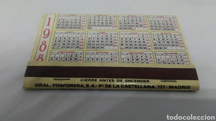 Cajas de Cerillas: CAJA DE CERILLAS GENERAL FOSFORERA POSTAL NAVIDAD CON CALENDARIO 1988 - Foto 3 - 127645759