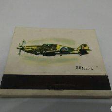 Cajas de Cerillas: CARTERITA DE CERILLAS N°18 HAWKER HURRICANE CAZA. Lote 127646351