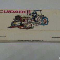 Cajas de Cerillas: CARTERITA DE CERILLAS SEGUROS MAPFRE OBJETIVO 1973 SEGURIDAD EN EL CAMPO. Lote 127646526