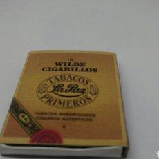 Cajas de Cerillas: CAJA DE CERILLAS WILDE CIGARRILLOS TABACOS LA PAZ PRIMEROS. Lote 127651959
