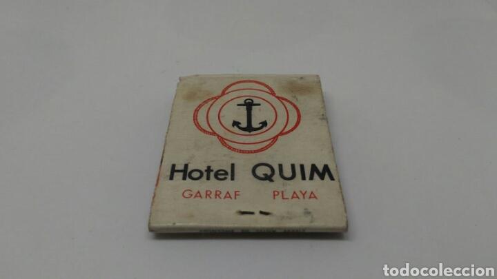 CARTERITA DE CERILLAS ANTIGUO HOTEL QUIM GARRAF (Coleccionismo - Objetos para Fumar - Cajas de Cerillas)