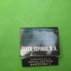 Cajas de Cerillas: CARTERITA DE CERILLAS TEXTIL ESPINAL SA. Lote 127661152