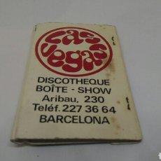 Cajas de Cerillas: CARTERITA DE CERILLAS DISCOTECA LAS VEGAS BARCELONA. Lote 127688062