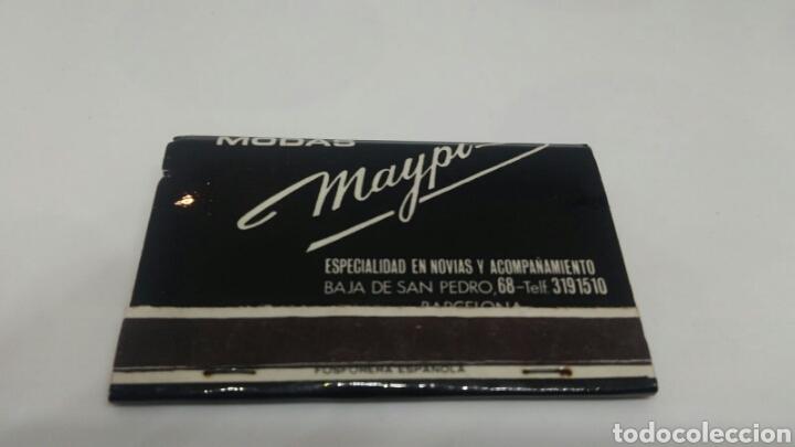 Cajas de Cerillas: CARTERITA DE CERILLAS ANTIGUO MODAS MAYPI BARCELONA - Foto 2 - 127688190