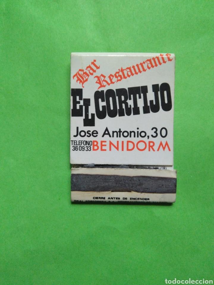 CARTERITA DE CERILLAS BAR RESTAURANTE EL CORTIJO (ESTA VACIO) (Coleccionismo - Objetos para Fumar - Cajas de Cerillas)