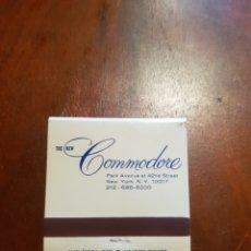 Cajas de Cerillas: CAJA DE CERILLAS REALTY HOTELS THE NEW COMMODORE SIN USO. Lote 127962995