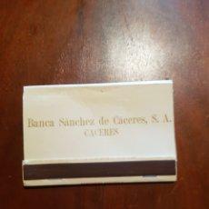 Cajas de Cerillas: CAJA DE CERILLAS BANCA SÁNCHEZ DE CÁCERES. Lote 127963103