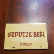 Cajas de Cerillas: SIN USAR CAJA DE CERILLAS RESTAURANTE GURUTZE BERRI - OYARZUN. Lote 127963643