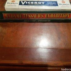 Cajas de Cerillas: GRAN CAJA DE CERILLAS MADAME TUSSAUDS EXHIBITION BAKER STREET OPEN EVERY DAY SIN USAR. Lote 128050408