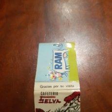 Cajas de Cerillas: CAJA DE CERILLAS CAFETERÍA SELVA LECHE RAM. Lote 128053750