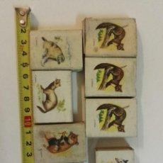 Cajas de Cerillas: 7 CAJAS DE CERILLAS DE CAZA MENOR DE FOSFORERA ESPAÑOLA. Lote 128058151