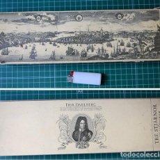 Cajas de Cerillas: CAJA DE CERILLAS DE CHIMENEA, PANORAMA DE ESTOCOLMO Y ERIK DAHLBERG, INGENIERO Y MARISCAL DE CAMPO.. Lote 128119583