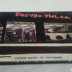 Cajas de Cerillas: CARTERITA DE CERILLAS EUROPE PIEL BENIDORM. Lote 128356815
