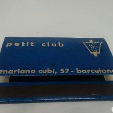 Cajas de Cerillas: CARTERITA DE CERILLAS PETIT CLUB BARCELONA. Lote 128357750