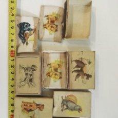 Cajas de Cerillas: 7 CAJAS DE CERILLAS DE PERROS DE RAZA DE FOSFORERA ESPAÑOLA. DIBUJOS CERVÉ. Lote 128365271