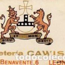 Cajas de Cerillas: CAJA DE CERILLAS, PUBLICIDAD CAFETERIA CAWIS (CC17). Lote 128377831