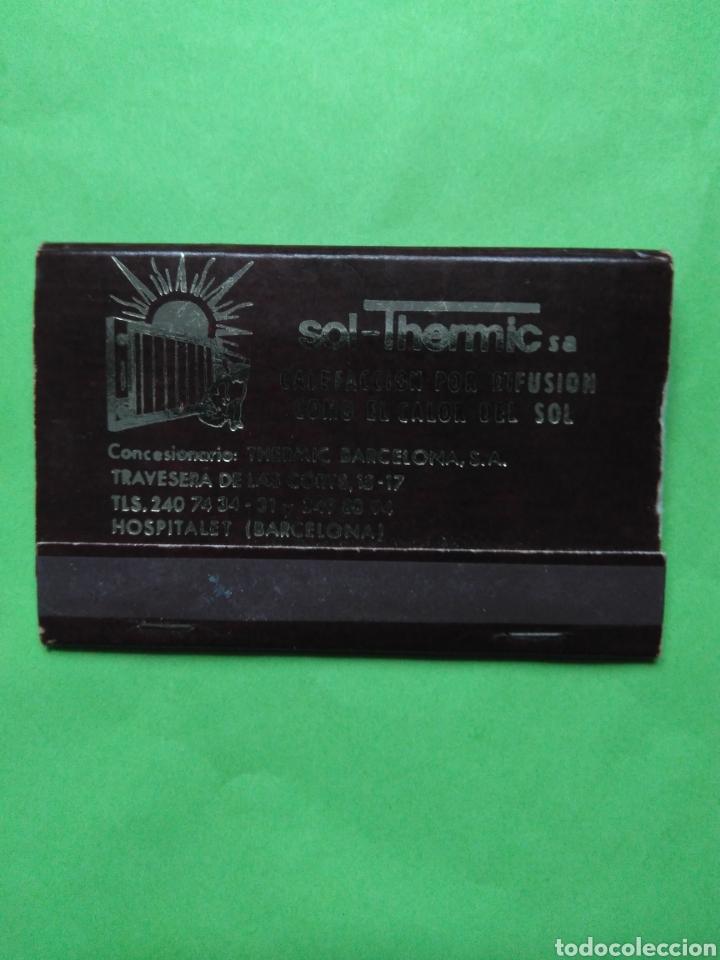 CARTERITA DE CERILLAS SOL-THERMIC SA (Coleccionismo - Objetos para Fumar - Cajas de Cerillas)