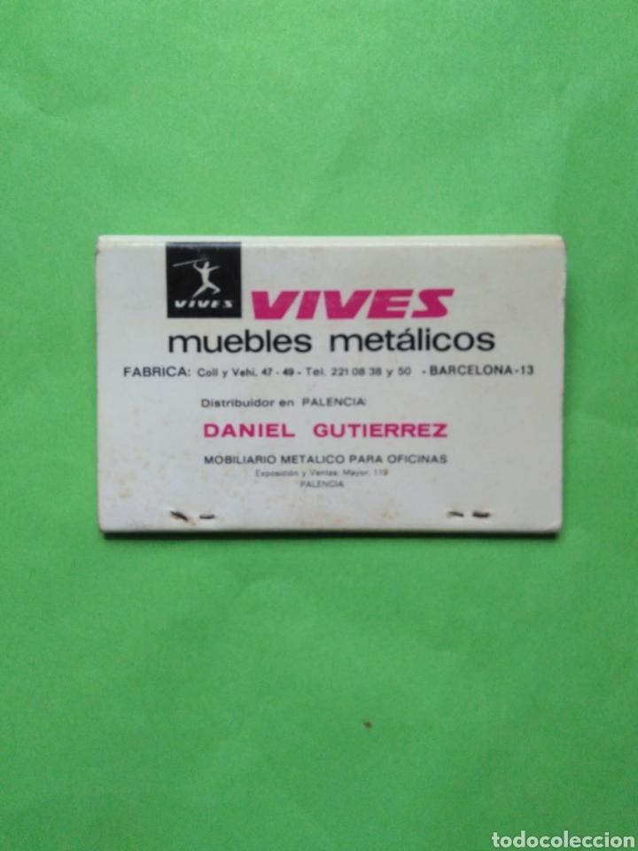 CARTERITA DE CERILLAS VIVES MUEBLES METALICOS (Coleccionismo - Objetos para Fumar - Cajas de Cerillas)