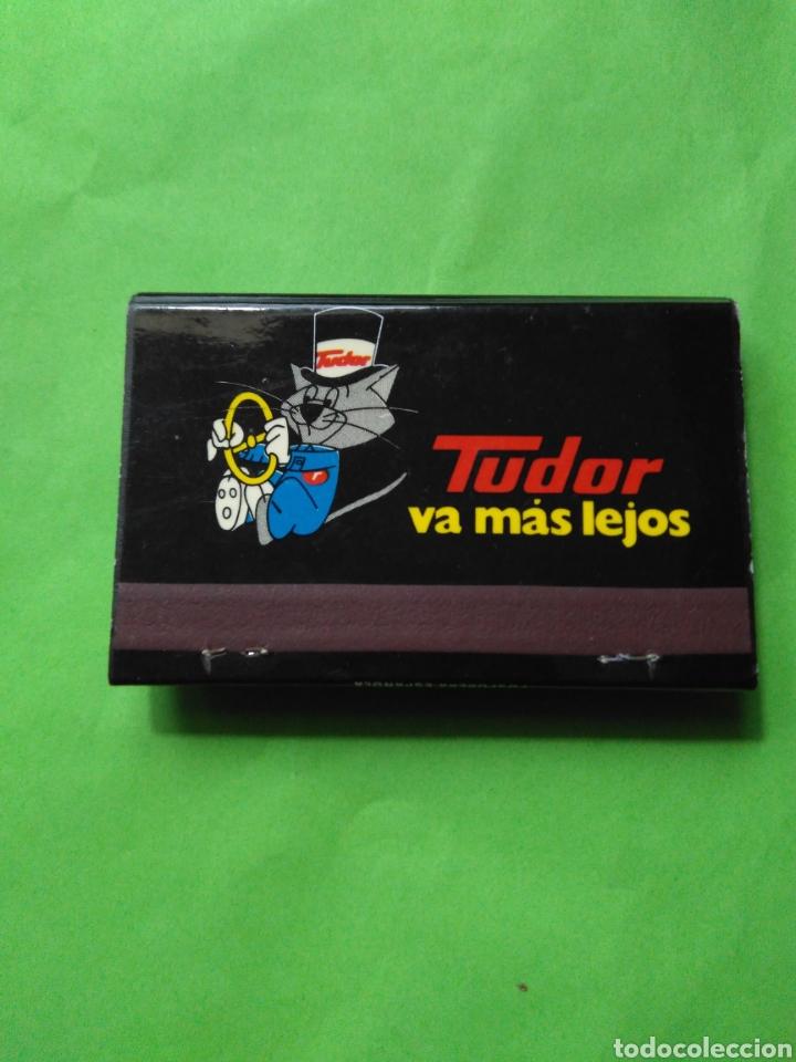 CARTERITA DE CERILLAS TUDOR VA MAS LEJOS (Coleccionismo - Objetos para Fumar - Cajas de Cerillas)