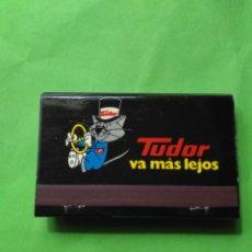 Cajas de Cerillas: CARTERITA DE CERILLAS TUDOR VA MAS LEJOS. Lote 129032726
